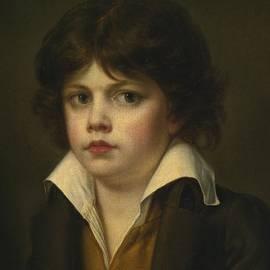 JEAN-BAPTISTE GREUZE - PORTRAIT OF A BOY