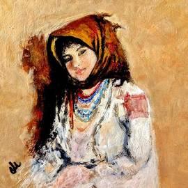 Cristina Mihailescu - Portrait of a little peasant girl..