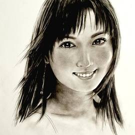 Hirokazu Tomimasu - Portrait of a Woman
