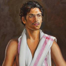 Dominique Amendola - Portrait of a young Indian man