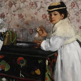 Edgar Degas - Portrait of Mademoiselle Hortense Valpincon