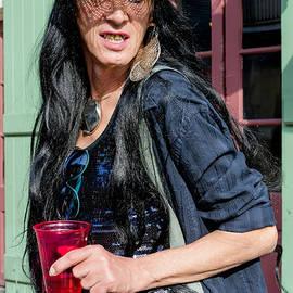 Kathleen K Parker - Portrait of Steve aka Didi on Bourbon St. NOLA