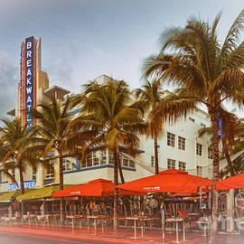 Silvio Ligutti - Postcard of Breakwater Esplendor Hotel on Ocean Drive - South Beach Miami Beach Florida