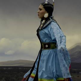 Karen  W Meyer - Pow Wow Woman Blue