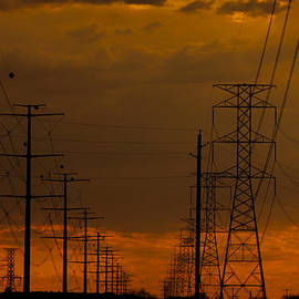 Ed  Cheremet - Powerlines at Dusk