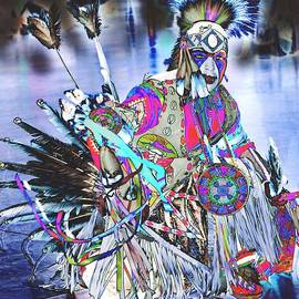 Kae Cheatham - Powwow dancer in Warrior Regalia