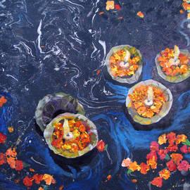 Art Nomad Sandra  Hansen - Prayers to the Ganges River