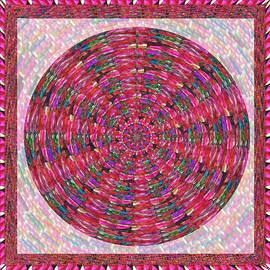 Navin Joshi - Premium Energy Field Chakra Goodluck Decorations Ethnic Pink Purple art for Yoga Meditation Healing