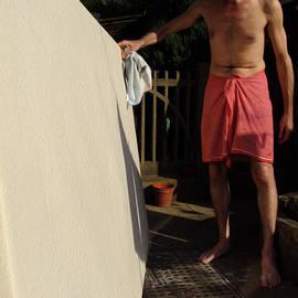 Sir Josef  Putsche - Preparing The Canvas Garden Art With Steve E