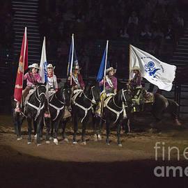 Janice Rae Pariza - Presenting The Colors on Horseback
