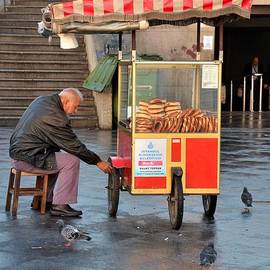 Imran Ahmed - Pretzel seller with pushcart
