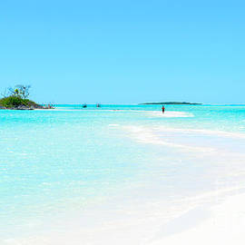 David Hill - Pristine tropics - an sand bar leading to a small island in the Pacific