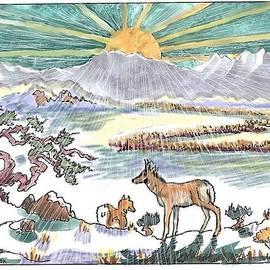 Dawn Senior-Trask - Pronghorn Winter Sunrise