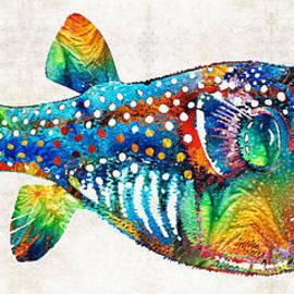 Sharon Cummings - Puffer Fish Art - Blow Puff - By Sharon Cummings
