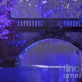 Maureen Tillman - Purple Bridge in Evening Moonlight