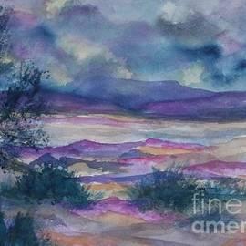 Ellen Levinson - Purple Dusk Settles on the Painted Desert