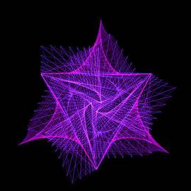 Bruce Nutting - Purple Linear Fractal Star