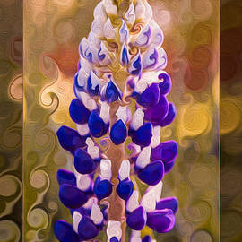 Omaste Witkowski - Purple Lupine in the Fall Flower Abstract Art