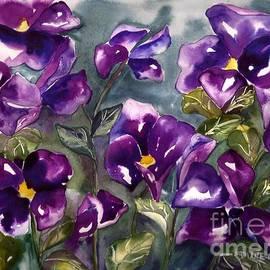 Diane Main Gordon - Purple Pansies