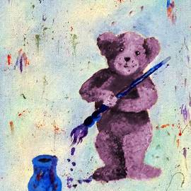 Janis  Tafoya - Purple Teddy the Artist