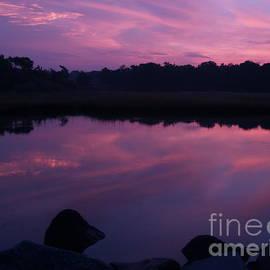 Anna Lisa Yoder - Purple Weekapaug Sunrise over Pond -  Rhode Island