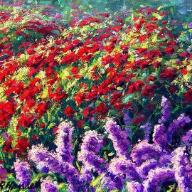 Rick Hansen - Purrple Liatris and Red BeeBom