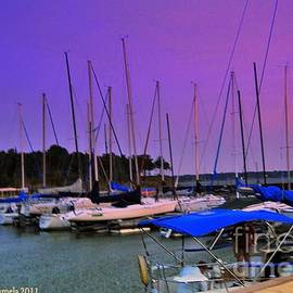 ARTography by Pamela  Smale Williams - Putting The Sails To Bed At Sunset
