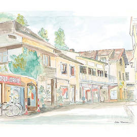 Joan Sharron - Quaint street in Grein Austria
