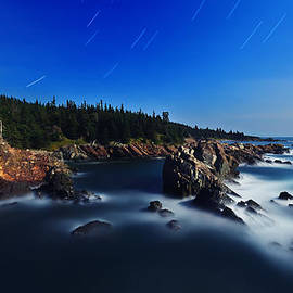 Bill Caldwell -        ABeautifulSky Photography - Quoddy Coast by Moonlight