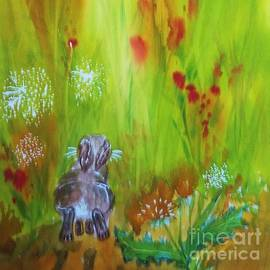 Ellen Levinson - Rabbit Hopping Through The Wildflowers - Square