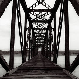 Miss Dawn - Railroad Train Trestle Black And White