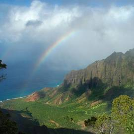 James Eddy - Rainbow at Kalalau Valley