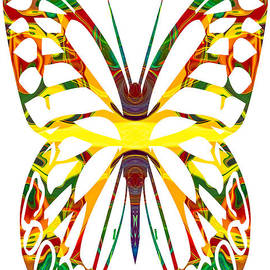 Omaste Witkowski - Rainbow Butterfly Abstract Nature Artwork