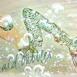 ARTography by Pamela  Smale Williams - Rainbow Mermaid Bubbles