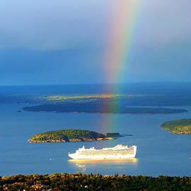 Paul Ge - Rainbow on the ship in Acadia National Park Maine