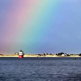 Janice Drew - Rainbow over Bug Light
