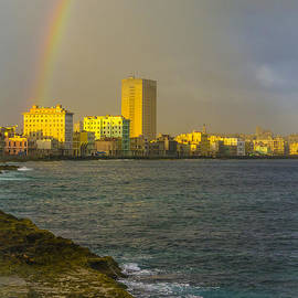 David Litschel - Rainbow Over Malecon in Havana