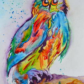 Beverley Harper Tinsley - Rainbow Owl