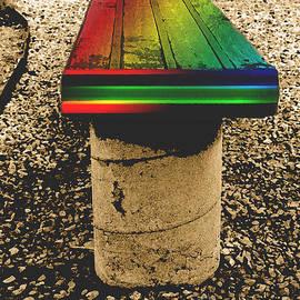 ImagesAsArt Photos And Graphics - Rainbow Park Bench