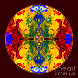 Omaste Witkowski - Rainbow Revelations Abstract Mandala Artwork by Omaste Witkowski