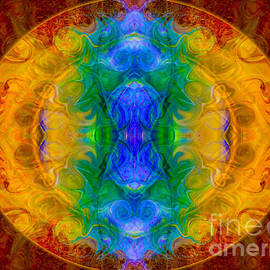 Omaste Witkowski - A Rainbow of Chaos Abstract Mandala Artwork by Omaste Witkowski