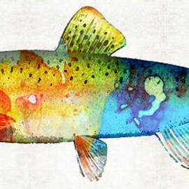 Sharon Cummings - Rainbow Trout Art by Sharon Cummings