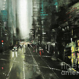 Maja Sokolowska - Rainy Chicago in oil