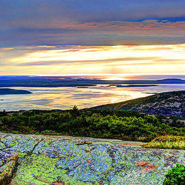 Peggy Berger - Rainy Sunrise on Cadillac Mountain
