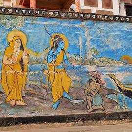 Kim Bemis - Ram Wall Painting  - Varanasi India