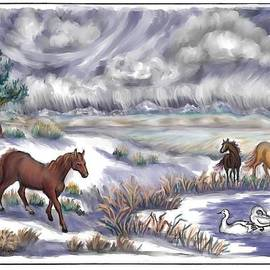 Dawn Senior-Trask - Ranch Horses and  Wild Swans