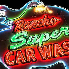 John Wayland - Rancho Super Car Wash Vintage Neon Sign in Rancho Mirage California