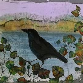 Carolyn Doe - Raven in Colored Leaves