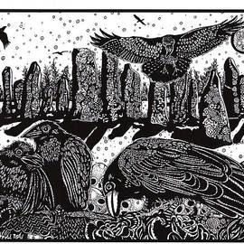 Judy Moon - Ravens at Standing Stones