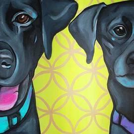 Lauren Hammack - Rebel and Dixie - Black Labs Painting